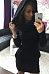 Hooded  Plain  Long Sleeve Casual Dresses
