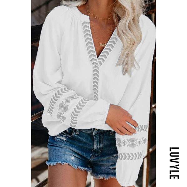 V-neck Loose Casual Shirt