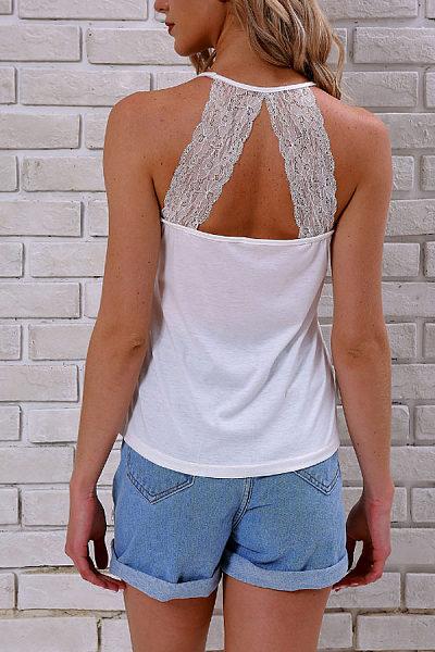 Spaghetti Strap  Backless  Plain Camis
