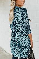 Leopard Printed  Basic Autumn Cardigans