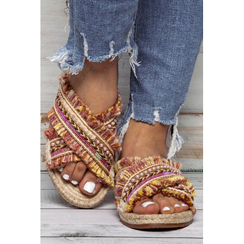 Peep Toe Casual  Comfort Sandals