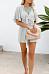 V Neck  Plain  Short Sleeve  Casual  Playsuits