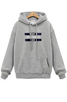 Letters Long Sleeve Loose Hoody