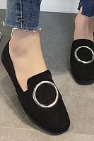 Plain  Flat  Round Toe  Date Comfort Flats