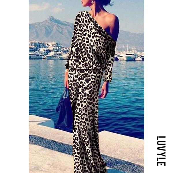 Leopard print Sexy Leopard Print Long Sleeve Maxi Dress Leopard print Sexy Leopard Print Long Sleeve Maxi Dress