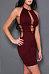 Cutout Plain Fitted Spaghetti Strap Bodycon Dress