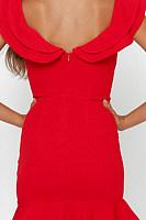 V Neck  Plain  Sleeveless Bodycon Dresses