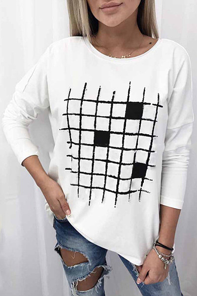 Women's casual round neck T-shirt