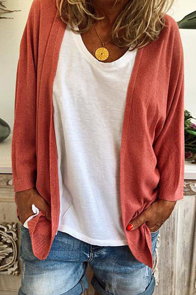 Women's Simple Solid Color Knit Cardigan