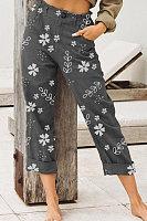 Women Floral Casual Pants