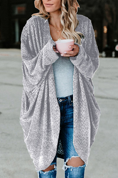Casual Loose-Fitting Plain Cardigan