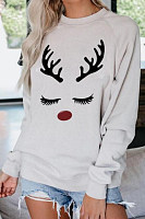 Christmas Printed Casual Sweatshirt