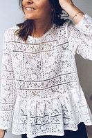 Round Neck Lace Elegant Blouses