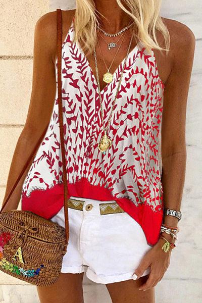 Sling Printed Casual Vest