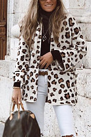 Women Leopard Casual Outerwear
