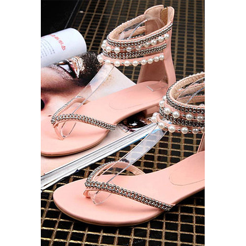 Toe Peep Casual Bohemian Date Flat Sandals gbf7Yyv6