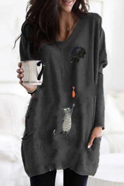 Casual Printed Long Sleeve T-shirt