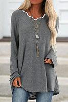 Irregular Collar Loose-Fitting T-shirt