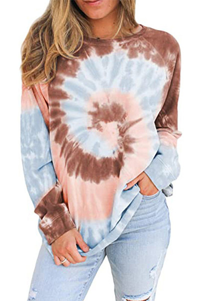 Tie-dye Loose Casual Sweatshirt