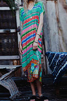 Bohemia Style Colorful Printed Vacation Dress