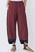 Solid Color Striped Loose Casual Straight Pants