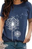 Round Neck Printing Short Sleeve T-shirt