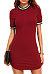Round Neck  Contrast Trim  Short Sleeve Bodycon Dresses