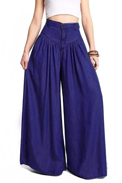 Fitted Cotton Casual Plain Pants