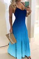 Sexy Gradient Sling Maxi Dress