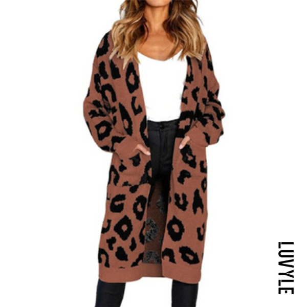 Casual Long Sleeve Printed Cardigan - from $30.00