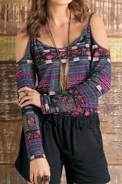 Scoop Neck Scoop Back Assorted Colors Shirt