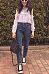 Tie Collar  Bowknot Patchwork  Plain Blouses