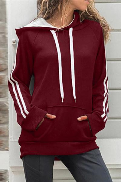 Hooded Plain Long Sleeve Casual Outerwear