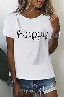 Fashion Printed Round Neck T-Shirt