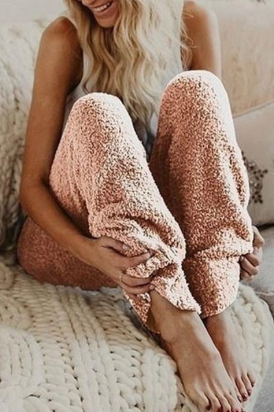 Long   Plain   Basic  Pants