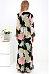Surplice Slit Printed Long Sleeve Maxi Dresses