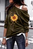 Christian Sunflower Long Sleeve Sweatshirt