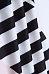 Round Neck  Belt  Geometric  Short Sleeve Casual Dresses