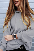 Hooded  Loose Fitting  Plain Hoodies