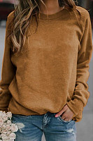 Round Neck Long Sleeve Plain T-Shirt