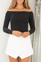 Sexy Off Shoulder  Plain Sweaters