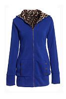 Hooded Leopard Plain Outerwear