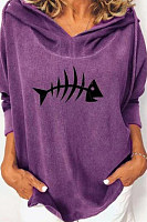 Fish Long Sleeve Loose Hoody