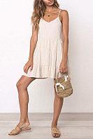 Spaghetti Strap  Sleeveless Casual Dresses