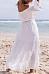 Lace Off Shoulder Patchwork Maxi Dress