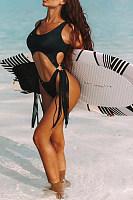 Spaghetti Strap  Backless Bikini