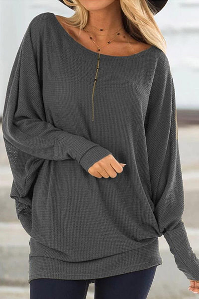 Casual Round Neck Loose-Fitting Sweater