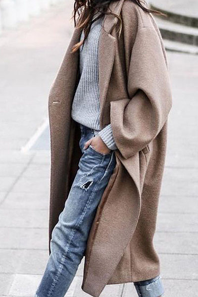 Women Long Outerwear Warm Fashion Coats