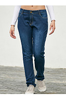 Long  Plain Basic  Jeans
