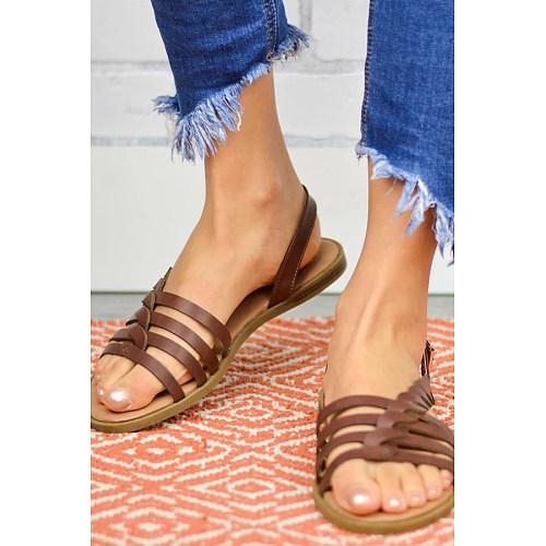 Plain  Flat  Peep Toe  Casual Date Flat Sandals